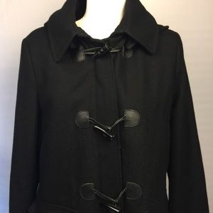 Tommy Hilfiger toggle front hooded wool coat